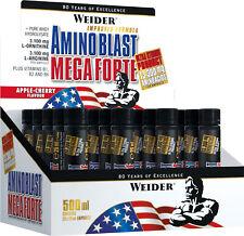 75€/L Weider Amino Blast Mega Forte / 20 x 25ml Ampullen Aminosäure Fitness