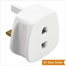 Shaver Adapter Plug UK To 2 Pin Socket Plug Fuse Bathroom Shaving UK SELLER