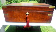 """""""VICTORIAN"""". Rosewood Writing Slope with Two Secret Drawers & Cartouche.  c1830."""