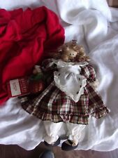 primitive country house of lloyd w tags wood doll girl decoration decor