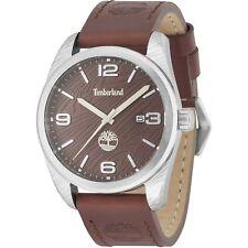 Reloj de Cuarzo Timberland Jaffrey para hombres 15258JS/12 Correa De Cuero Marrón Esfera Marrón