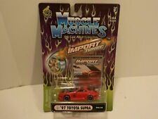 N '97 TOYOTA SUPRA Red Muscle Machines 1:64 Scale Diecast Import Tuner