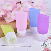 38/60/80ml Travel Refillable Bottles Silicone Squeeze Bottle Tube ContainersBDD