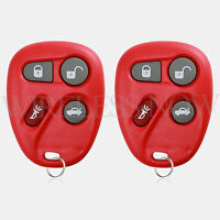 2 Car Fob Keyless Entry Remote Red For 2001 2002 2003 2004 2005 Pontiac Grand AM