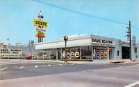 CA Whittier DAVE SCHENK DODGE 1959-64 Auto Dealership UNIQUE SIGN postcard A73