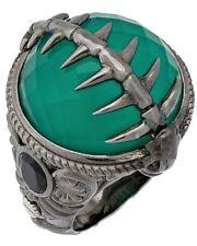 Stephen Webster Jewels Verne Womens green crystal haze fish skeleton silver ring