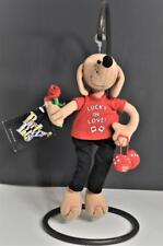 New Amscan Party Pals LUCKY IN LOVE Dog Stuffed Animal with Flower + Dice