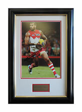"SYDNEY SWANS Lance ""Buddy"" Franklin Signed Framed Print AFL"
