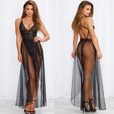 Women-Sexy-Lingerie-Sleepwear-Body-Stocking-Lace-Teddy-Dress-Babydoll-Nightwear