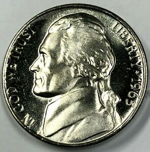 1965 SMS CAMEO Jefferson Nickel 5c ~ Exceptional Cameo Strike & Frosty Details