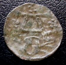POLAND PRUSSIA = DENAR WITHOUT DATE-ABOUT 1550 - ALBRECHT HOHENZOLLERN -SILVER