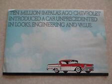 Original 1972 Chevrolet Impala advertising brochure