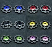 J&L 11T Ceramic Derailleur Pulley/Jockey-5.4g* 2pc For Shimano,SRAM&Campagnolo