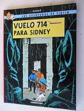 Tintin-vuelo 714 vorgenommen sidney-hispano-Hardcover-castermann - z. 1-2