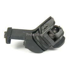 45-Degree Offset Iron Rear Sight Compatible with Picatinny/Weaver Rails