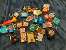 Key Chain Lot (25) Assorted Various Vintage some with original tags