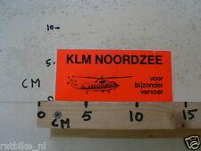 STICKER,DECAL KLM NOORDZEE VOOR BIJZONDER VERVOER HELICOPTER