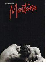 PUBLICITE ADVERTISING 084  1990  MONTANA  parfum pour homme