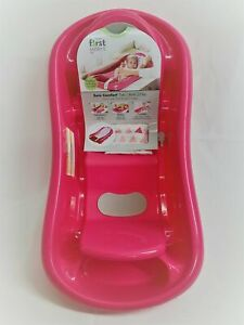 THE FIRST YEARS Newborn-Toddler Tub w/ Sling NWT/D Deluxe Sure Comfort Pink