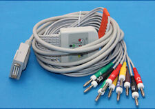 BURDICK 10 Leads EKG ECG Cable  Banana 4.0mm Compatible DB15Pin IEC