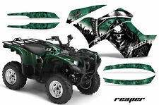 ATV Graphics Kit Quad Decal Wrap For Yamaha Grizzly 550 700 2007-2014 REAPER GRN