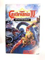 Super Castlevania IV Nintendo Manual ONLY 1991 Konami