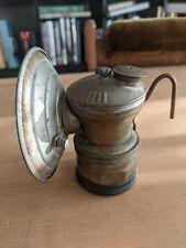 Vintage Auto Lite  Brass Carbide Miner's Lamp Headlight Light Lantern
