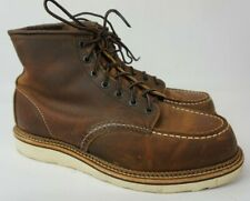 """Red Wing 1907 Classic 6"""" Inch Moc Copper Brown Boots Men's Size 10 D"""
