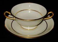 Lenox J34 - Cream Soup Bowl & Saucer - Frederick Keer's Sons -Newark, New Jersey