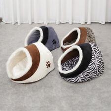 Pet Dog Beds Cave Basket Igloo Kennel Shape Warm Dog Cat House Cushion Hut Nest
