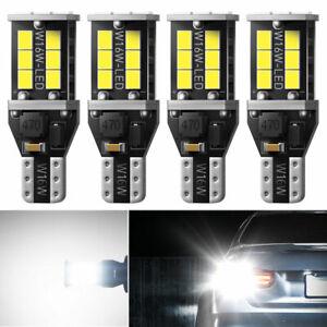 4pcs AUXITO CANBUS T15 921 LED Backup Reverse Light Bulbs Bright White 6000K HCN
