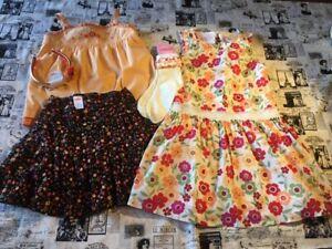 Gymboree Fiesta Del Sol skort tank tee top dress set lot socks 7 8 purse hair