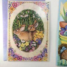 Leanin' Tree Easter Card - Bunnies in Spring Flowers - Happy Easter Happy Spring