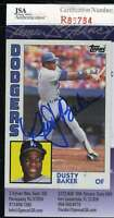 Dusty Baker 1984 Topps Jsa Coa Hand Signed Authentic Autographed