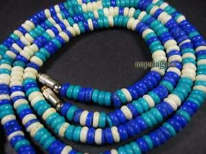 N3768 Ethnic tribal Surfer Choker Bone Necklace Handmade Jewelry gift India
