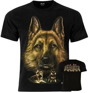 ALSATIAN GERMAN SHEPHERD DOG Wild Animal Biker Tattoo T-Shirt S M L XL