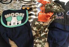 51) Lot of 9 NWT Baby Boys 0-3 months Clothing Batman Camo Puppy