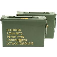 US Military 30 Cal ammo can 2-Pack Grade 1