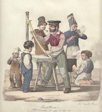 Il franfelliccaro, 1827 Morner Cuciniello e Bianchi lito acquarellata