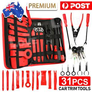 31x Car Trim Removal Tool Set Hand Tools Panel Pry Bar Door Interior Clip Kit AU