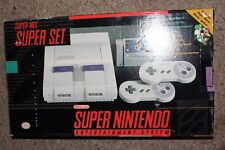 Super Nintendo SNES Console System Complete in Box w/ Mario World Bundle #SNW4