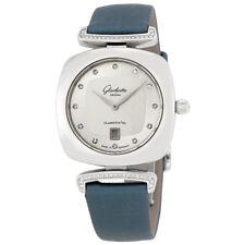 Glashutte Pavonina Galvanized Silver Diamond Dial Ladies Watch 1-03-01-10-12-34