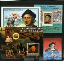 DISCOVERY OF AMERICA/SHIPS SMALL COLLECTION SET OF 4 S/S MNH