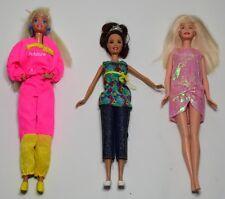 Lotto 3 Barbie Mattel Bambole doll poupee fashion style vintage anni'80/'90-125