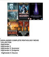 Highlander Complete Movie Penthology Film Part 1 2 3 4 5 DVD Collection Set NEW