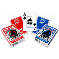 Bicycle WPT playing cards World Poker Tour Jumbo index Red or Blue 1 Deck NEW