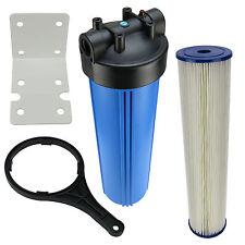 Hauswasserfilter 20 Zoll BigBlue Vorfilter Gartenfilter Brunnen + Fächerfilter