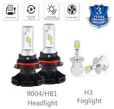 For Nissan Xterra 2000-2001 4x Combo 9004 HB1 Headlight & H3 Fog Light LED Bulbs