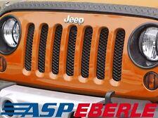 Kühler Schutzgitt?er Kühlerschutz Gitter schwarz Jeep Wrangler JK 07-15