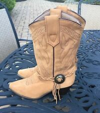 Oak Tree Farms Genuine Suede Leather Cowboy Western Boots..Women's..8..VGC